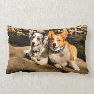 Corgi Lovers Lumbar Pillow