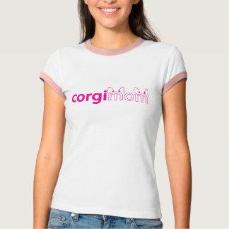 Corgi Mom Womens Ringer Tee