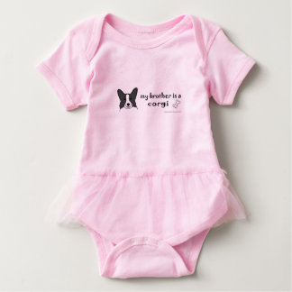 corgi-more breeds baby bodysuit