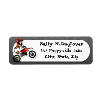 Corgi Motocross Return Address Label