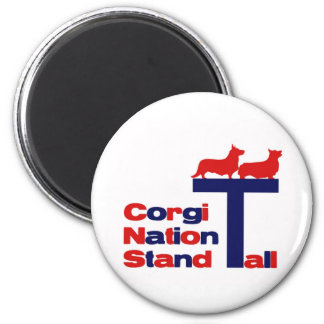 Corgi Nation Stand Tall Magnet