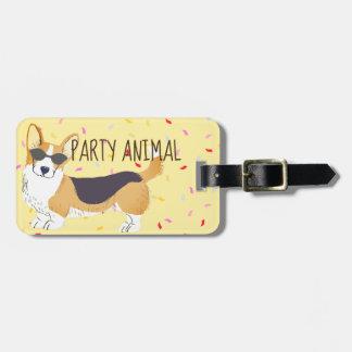 Corgi Party Animal Luggage Tag
