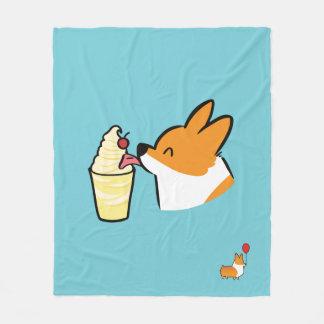 Corgi Pineapple Dole Whip Blanket (Secret)