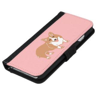 Corgi Pink Phone Wallet Case