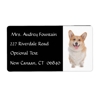 Corgi Puppy Dog Name Return Address Mailing Label