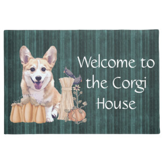 Corgi Puppy in Autumn Doormat