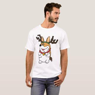 Corgi Reindeer Christmas T-Shirt