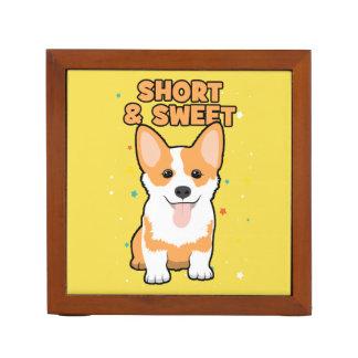 Corgi - Short and Sweet, Cute Dog Cartoon, Novelty Desk Organiser