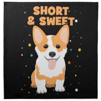 Corgi - Short and Sweet, Cute Dog Cartoon, Novelty Napkin