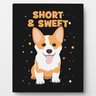 Corgi - Short and Sweet, Cute Dog Cartoon, Novelty Plaque