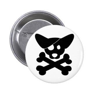 Corgi Skull Crossbones Button