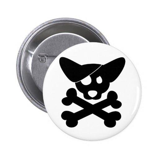 Corgi Skull & Crossbones Button