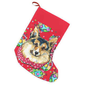 CORGI SMALL CHRISTMAS STOCKING