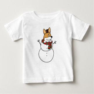 Corgi Snowman Christmas Baby T-Shirt