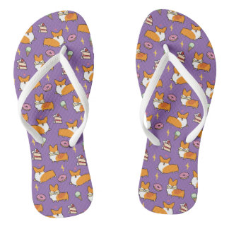 Corgi Sweet Treats Flip Flops