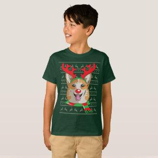 corgi T-Shirt Funny Reindeer Christmas Gift Shirt