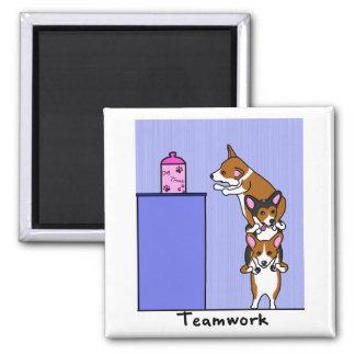 Corgi Teamwork Magnet