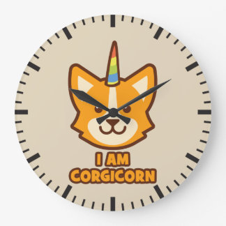 Corgi Unicorn - CORGICORN Large Clock