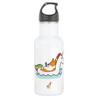 Corgi Unicorn Floatie Water Bottle 532 Ml Water Bottle