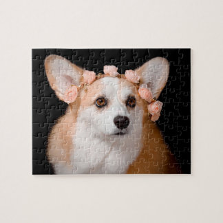Corgi With Flowers in Her Hair Puzzle