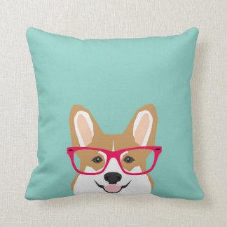 Corgi with Glasses - Hipster Dog, Cute Corgi GIft Cushion
