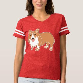 Corgi Women's Football T-Shirt