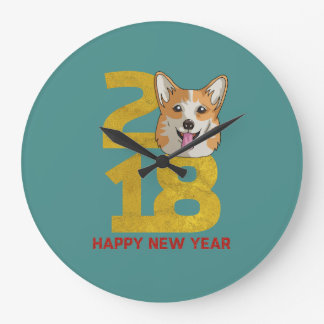 Corgi Year of the Dog 2018 New Year Clock