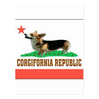 CORGIFORNIA POSTCARD