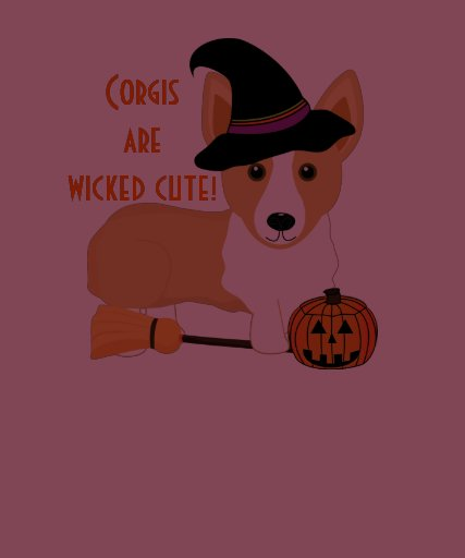 Corgi's are wicked cute! Dog Witch Shirt