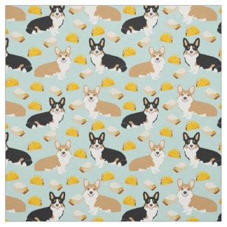 Corgis Tacos Fabric - cute corgi pattern