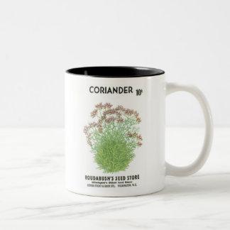 Coriander, Roudabush's Seed Store Mugs