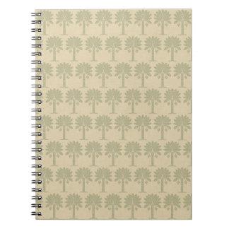 Coriander Spice Moods Palm Spiral Note Books