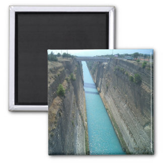 Corinthian Canal Square Magnet