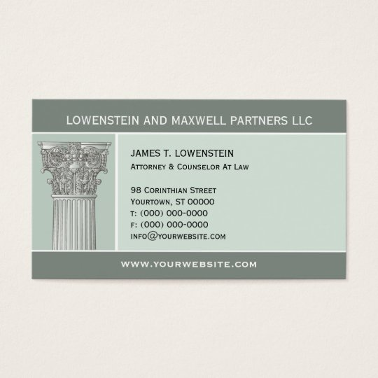 Corinthian Column Attorney Business Card