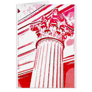 Corinthian Column Note Card