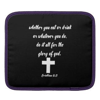 Corinthians 10:31 iPad sleeve