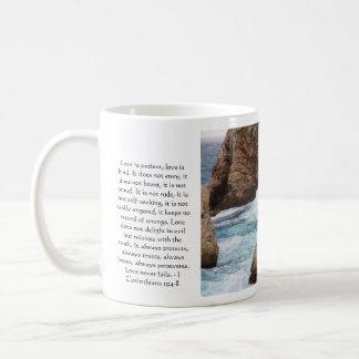 Corinthians 13:4-8 BIBLE VERSE ABOUT LOVE Coffee Mug