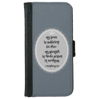 Corinthians Bible Verse Grace iPhone 6 Wallet Case