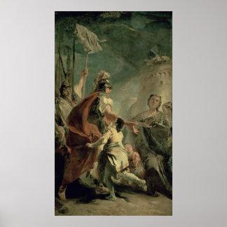 Coriolanus in the Environs of Rome, c.1725 Poster