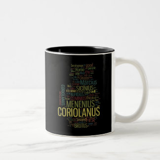 Coriolanus Word Mosaic Two-Tone Mug