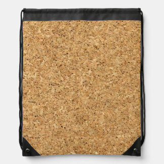 cork background drawstring bag