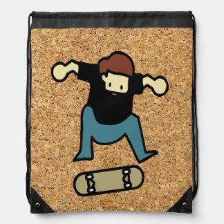 cork background skateboard backpacks