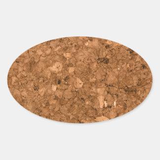 Cork Board Oval Sticker