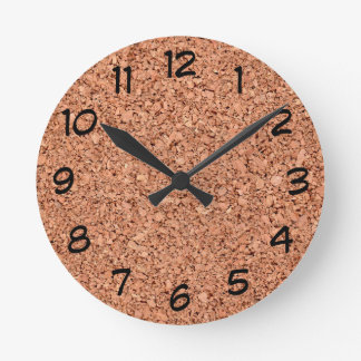 Cork Board Round Clock