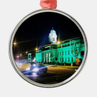 Cork City Hall, St. Patricks week, Ireland Silver-Colored Round Decoration