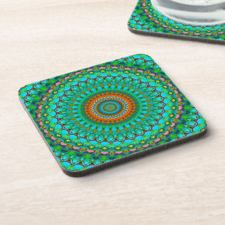 Cork Coaster Geometric Mandala G388