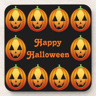 Cork Coaster Happy Halloween Pumpkins