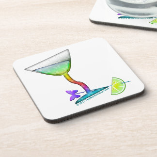CORK COASTERS - BUTTERFLY MARTINI