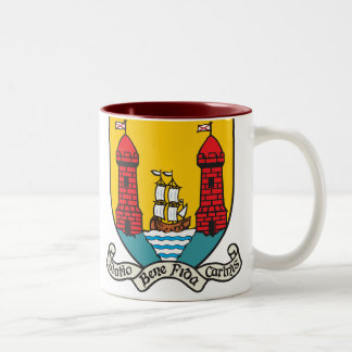 Cork Coat of Arms Two-Tone Coffee Mug