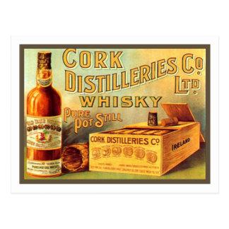 Cork Distilleries Whisky Vintage Ad Postcard